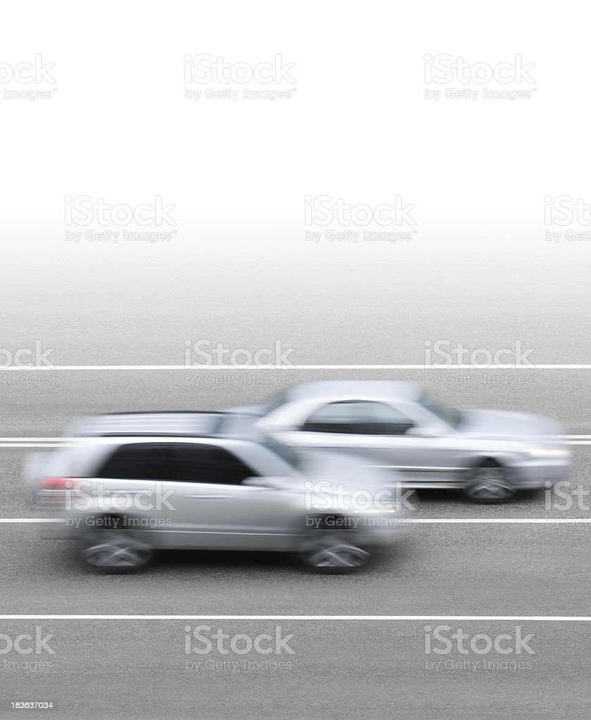 Cars on the road stock photo