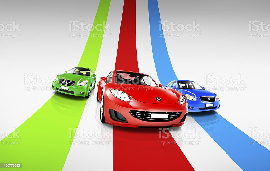 Cars on Track royalty-free stock photo