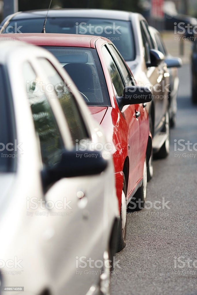 Cars parking royalty-free stock photo