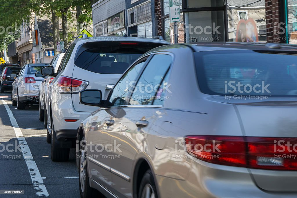 Cars parking stock photo