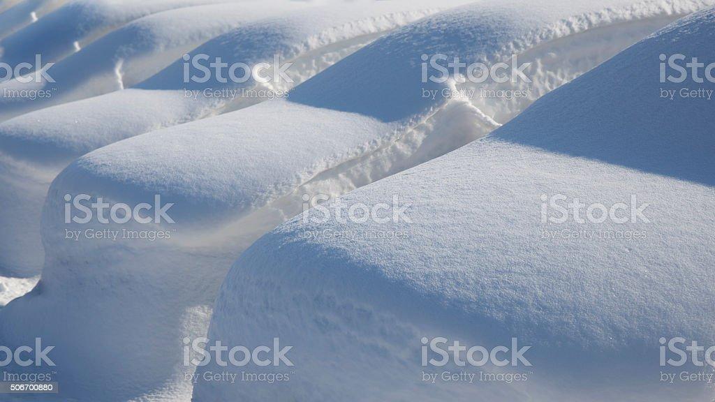 Cars Under Deep Snow stock photo