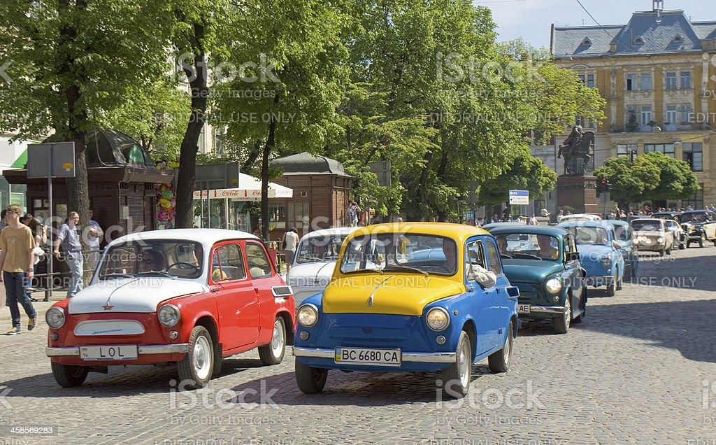 Cars Zaporozhets royalty-free stock photo