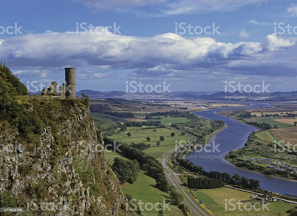 Carse of Gowrie from Kinnoull Hill Perth Scotland stock photo