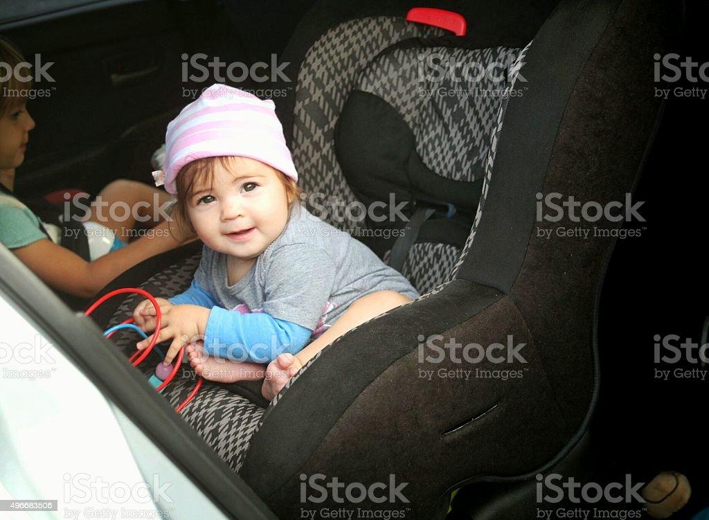 Carseat baby stock photo