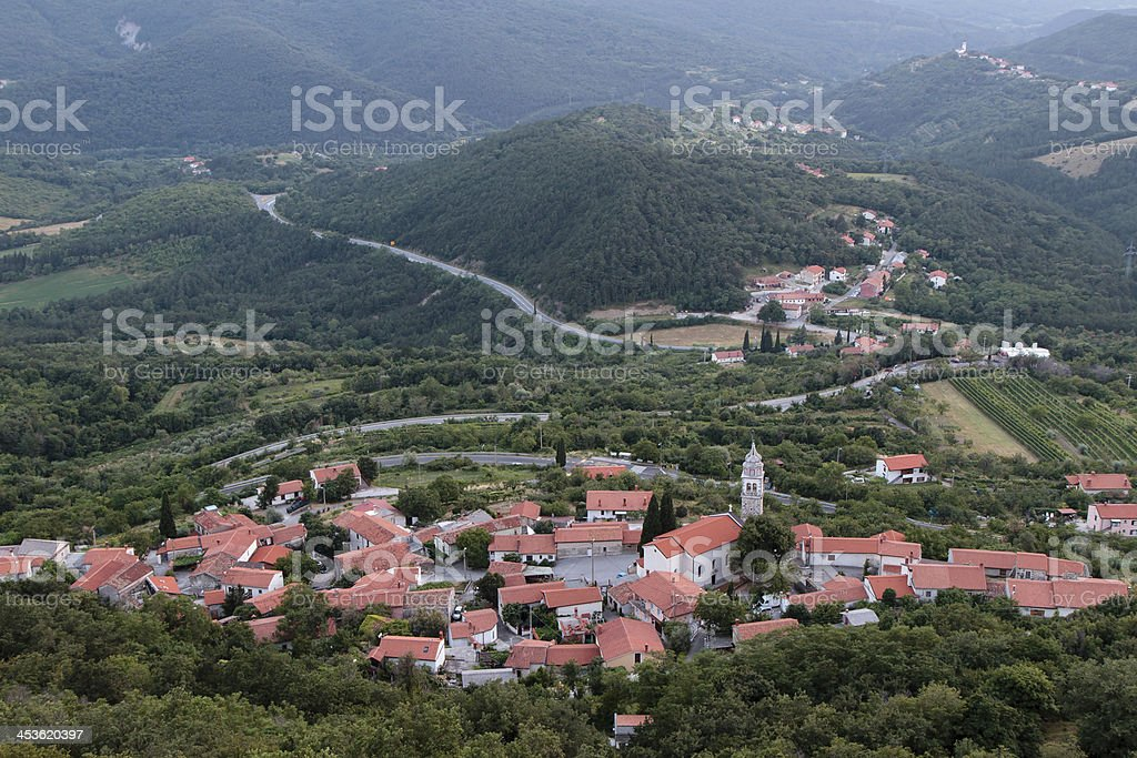Carsica village stock photo