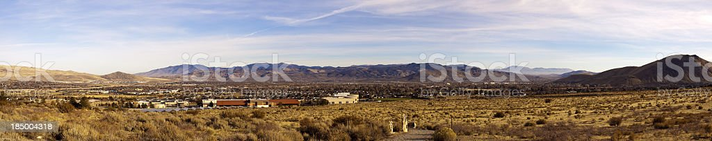Carson City Panoramic stock photo