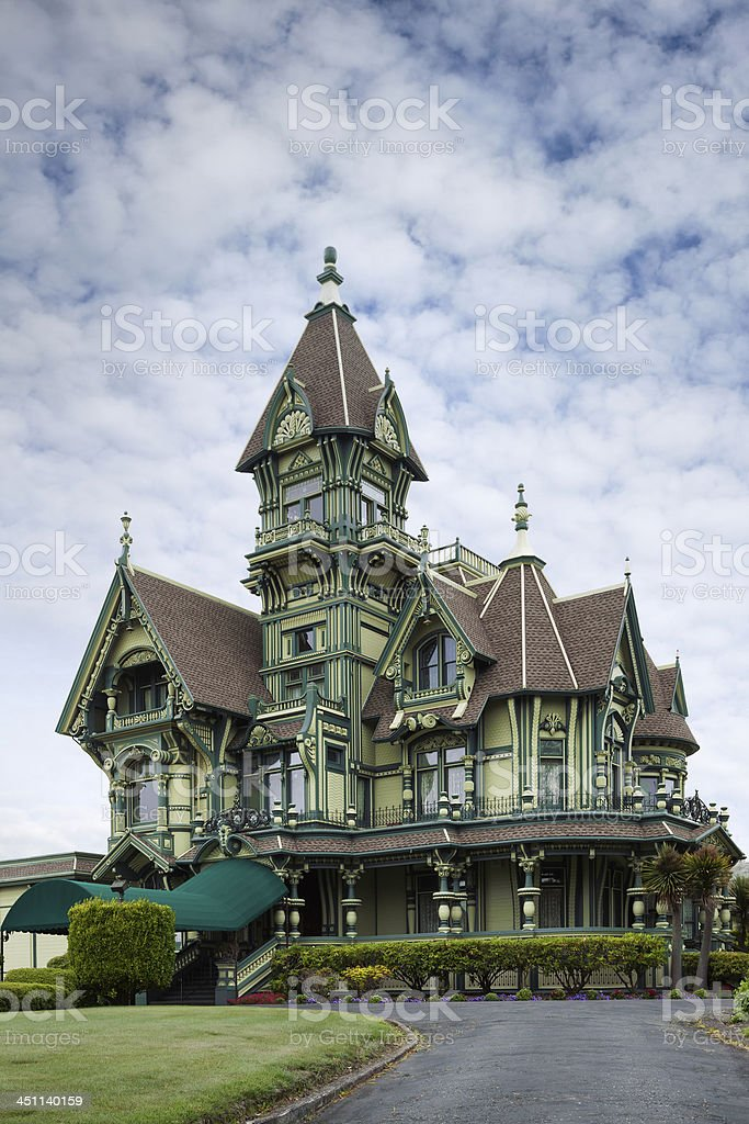 Carson mansion stock photo