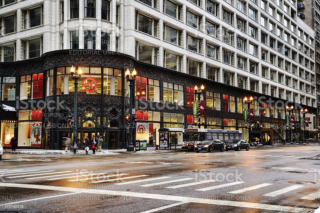 Carson Pirie Scott, downtown Chicago stock photo