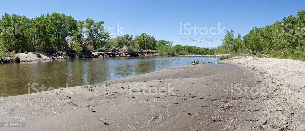 Carson River, Nevada stock photo
