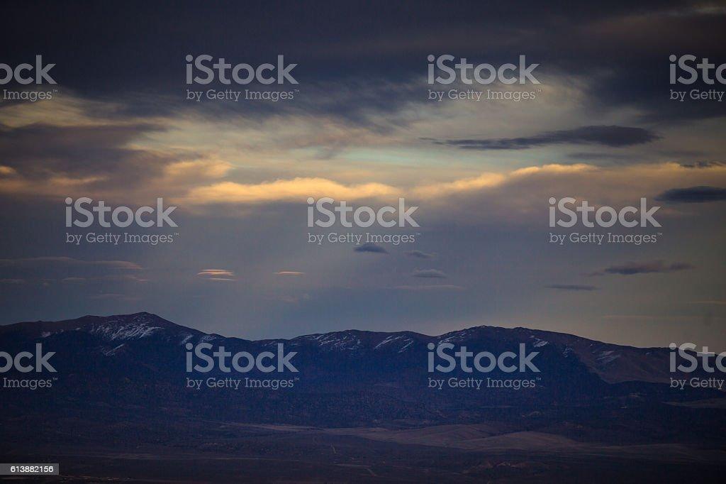 Carson Valley at Dusk stock photo