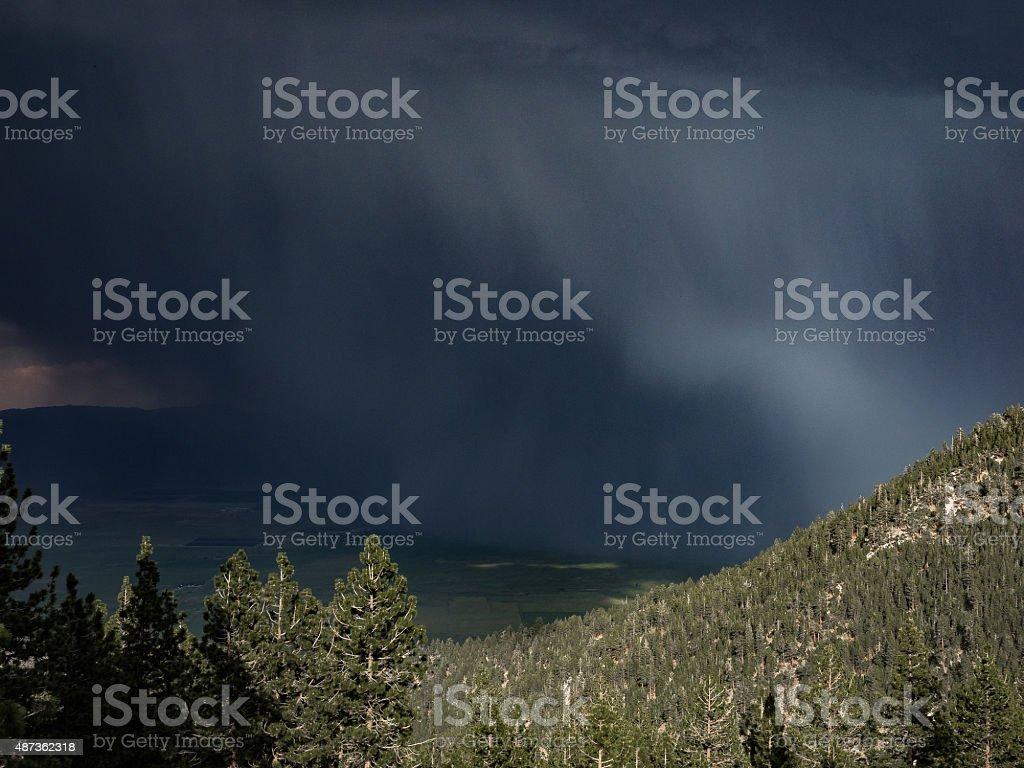 Carson Valley Thunderstorm stock photo