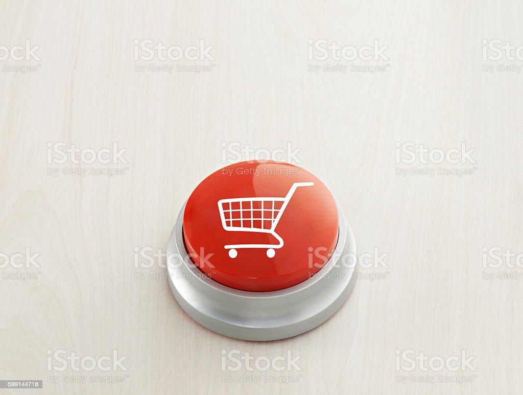 Cart button stock photo