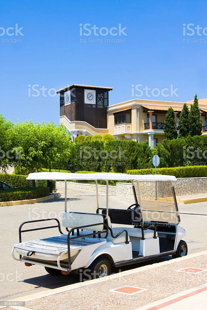 Cart in club, Greece, Peloponnese stock photo