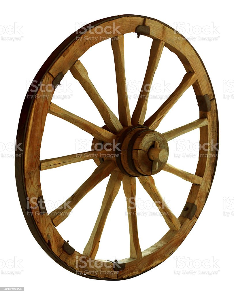 Cart wheel stock photo