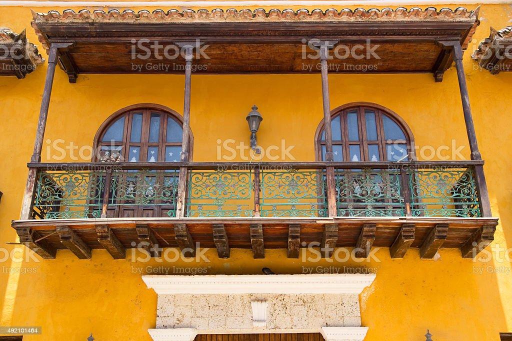 Cartagena architecture royalty-free stock photo