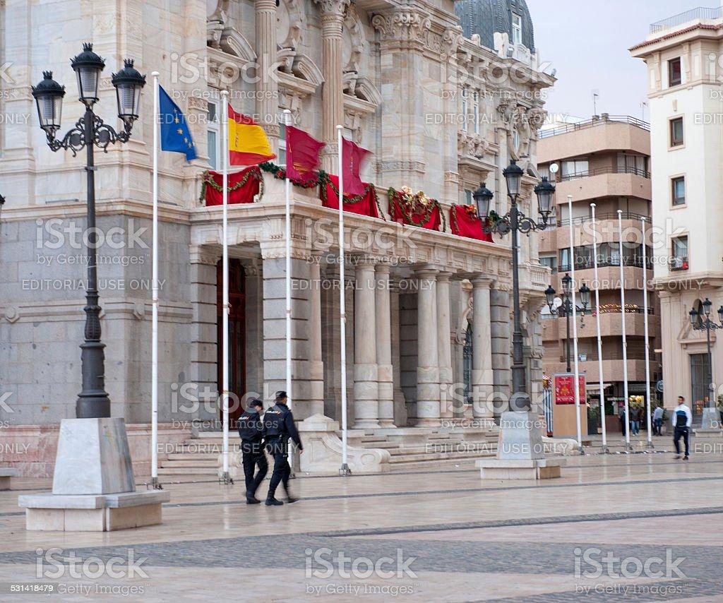 Cartagena , City hall , Spain stock photo