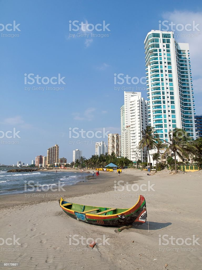 Cartagena Colombia Bocagrande beach stock photo