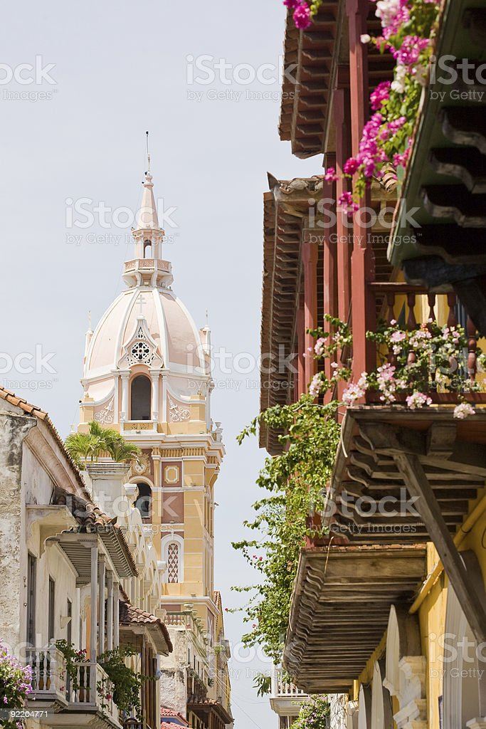 Cartagena, Colombia Church stock photo
