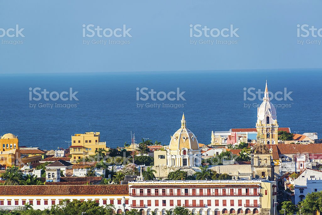 Cartagena Old Town stock photo