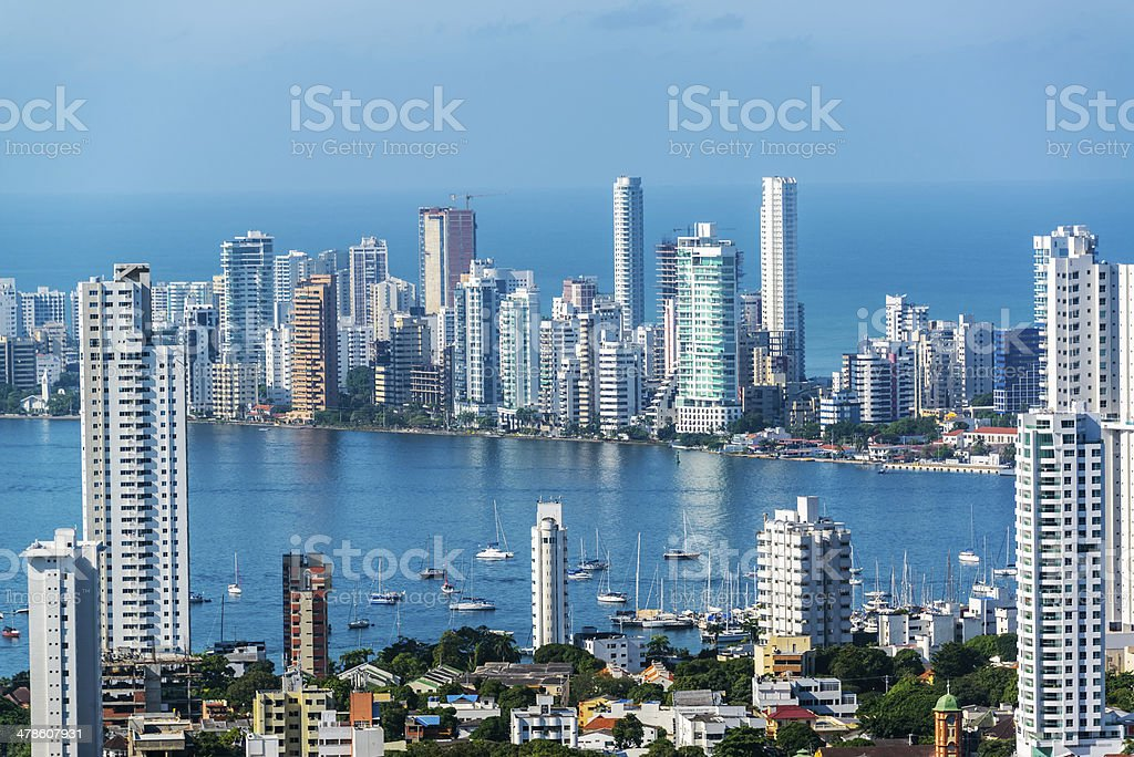 Cartagena Skyscapers stock photo