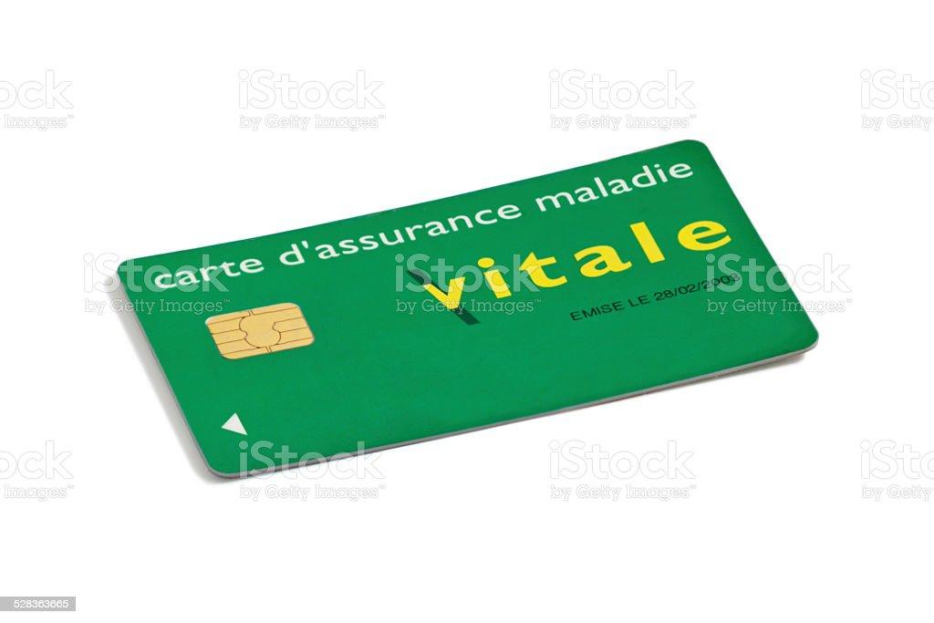 Carte Vitale on white background stock photo