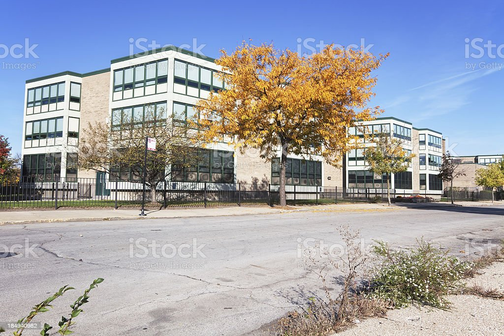 Carter G. Woodson South Elementary School in Grand Boulevard, Ch stock photo