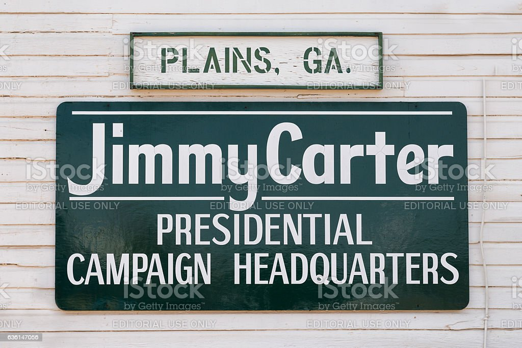 Carter Presidential Campaign Headquarters sign stock photo