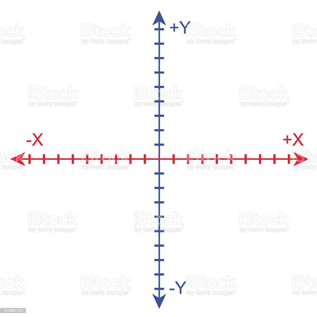 Cartesian Coordinate System stock photo