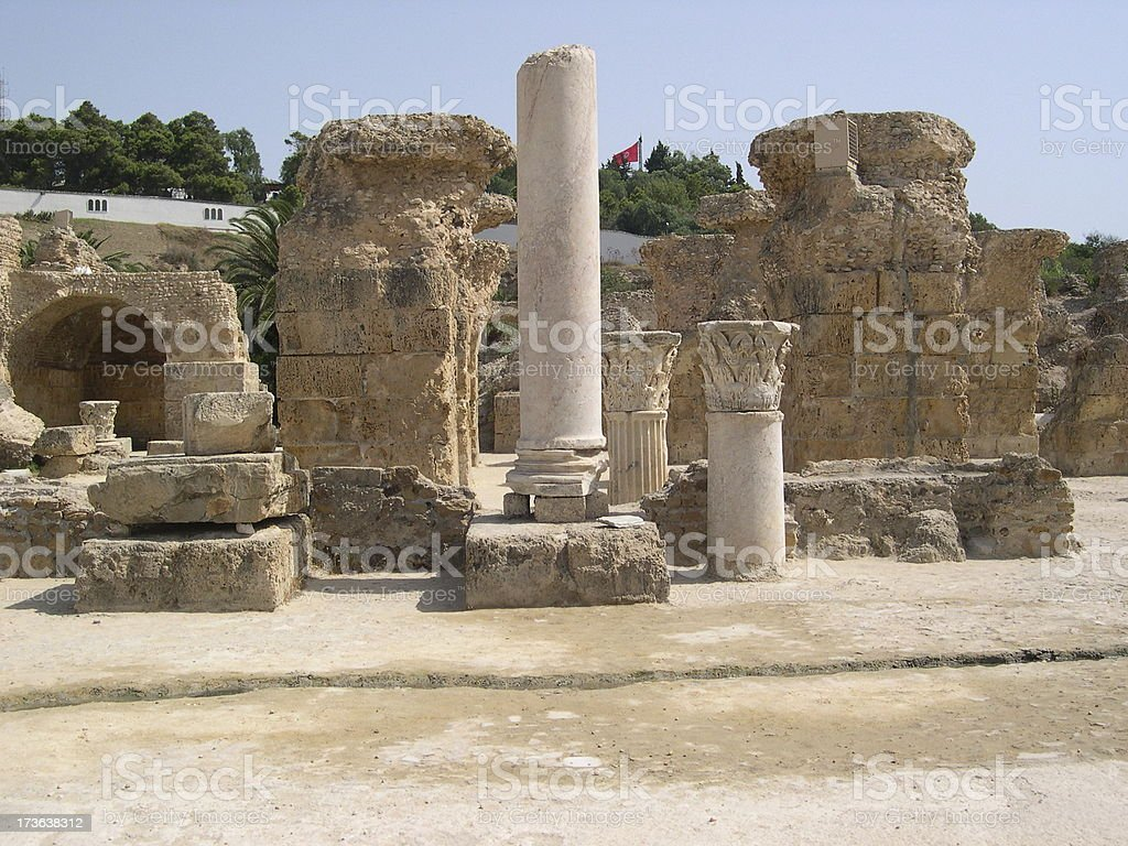 Carthage Baths of Antonino Pio royalty-free stock photo
