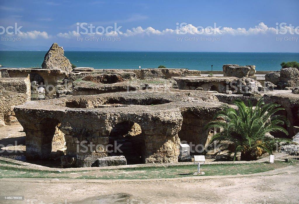 Carthage - Baths of Antoninus Pius royalty-free stock photo