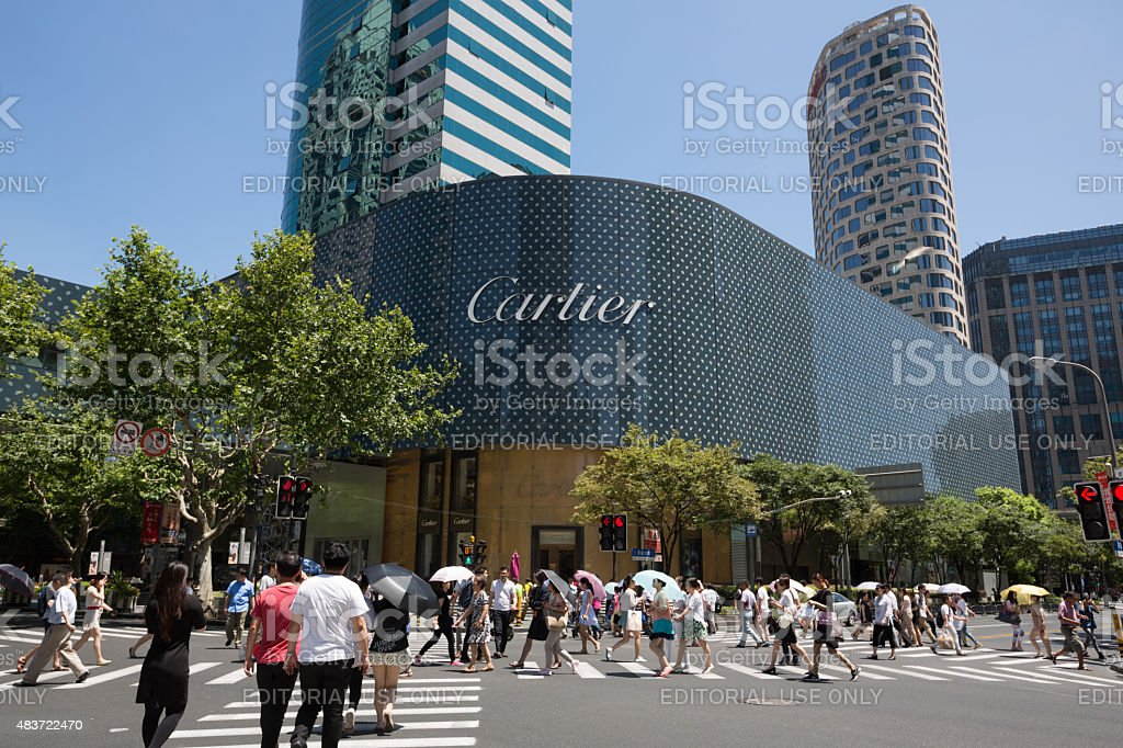 Cartier Flagship Store in Shanghai, China stock photo