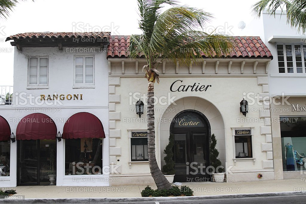 Cartier on Worth Avenue, Palm Beach, Florida stock photo