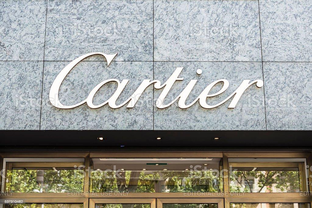 Cartier shop, Barcelona stock photo