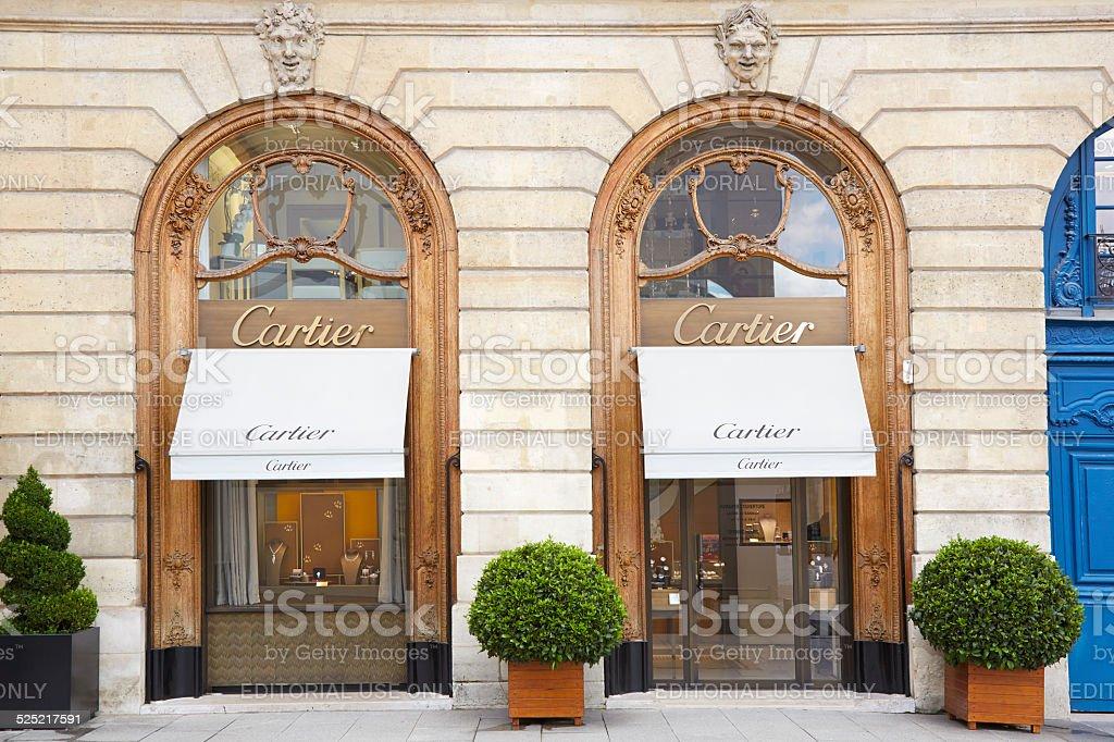 Cartier shop in place Vendome in Paris stock photo