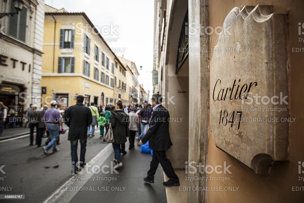 Cartier store in Via dei Condotti, center of Rome royalty-free stock photo
