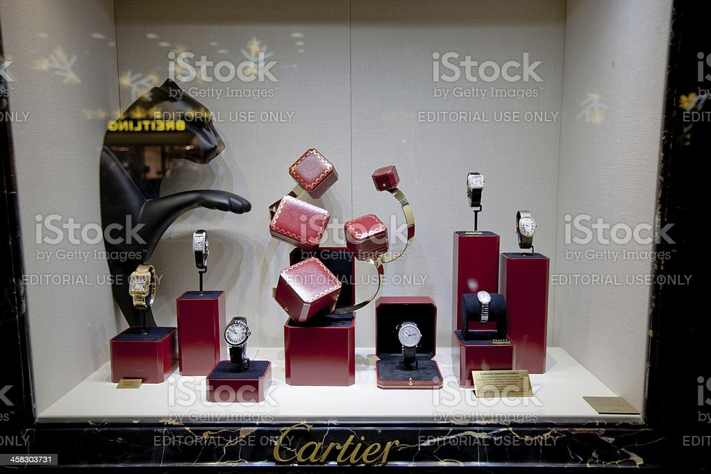 Cartier Store Window Display, Paris royalty-free stock photo