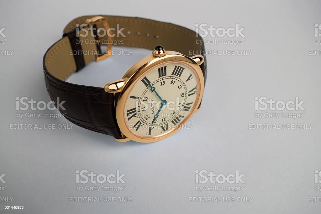 Cartier wrist watch stock photo