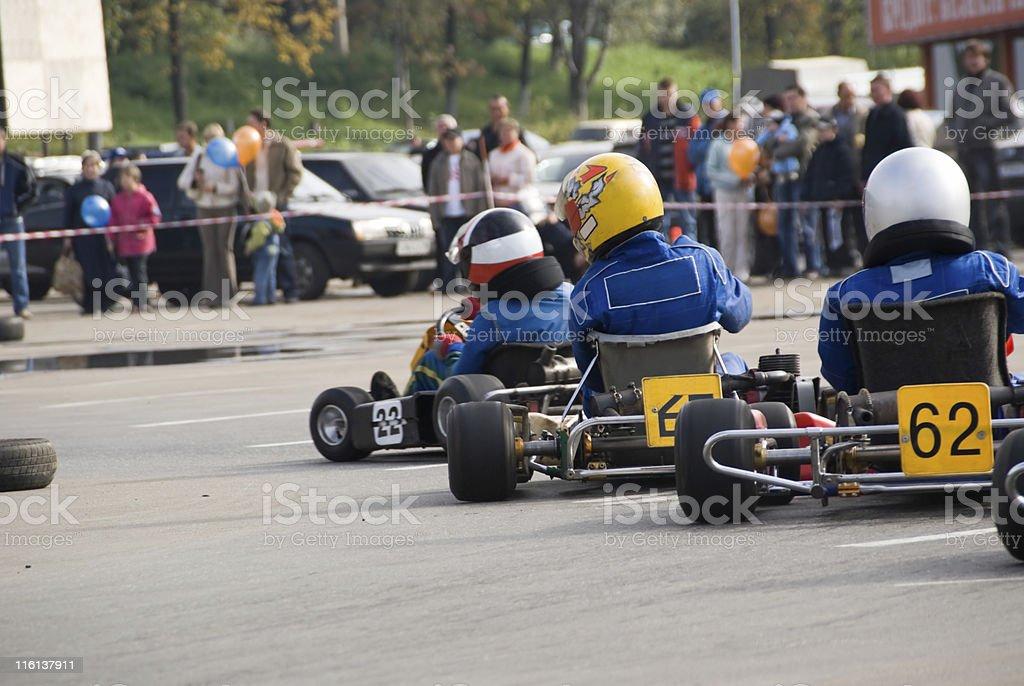 carting race stock photo