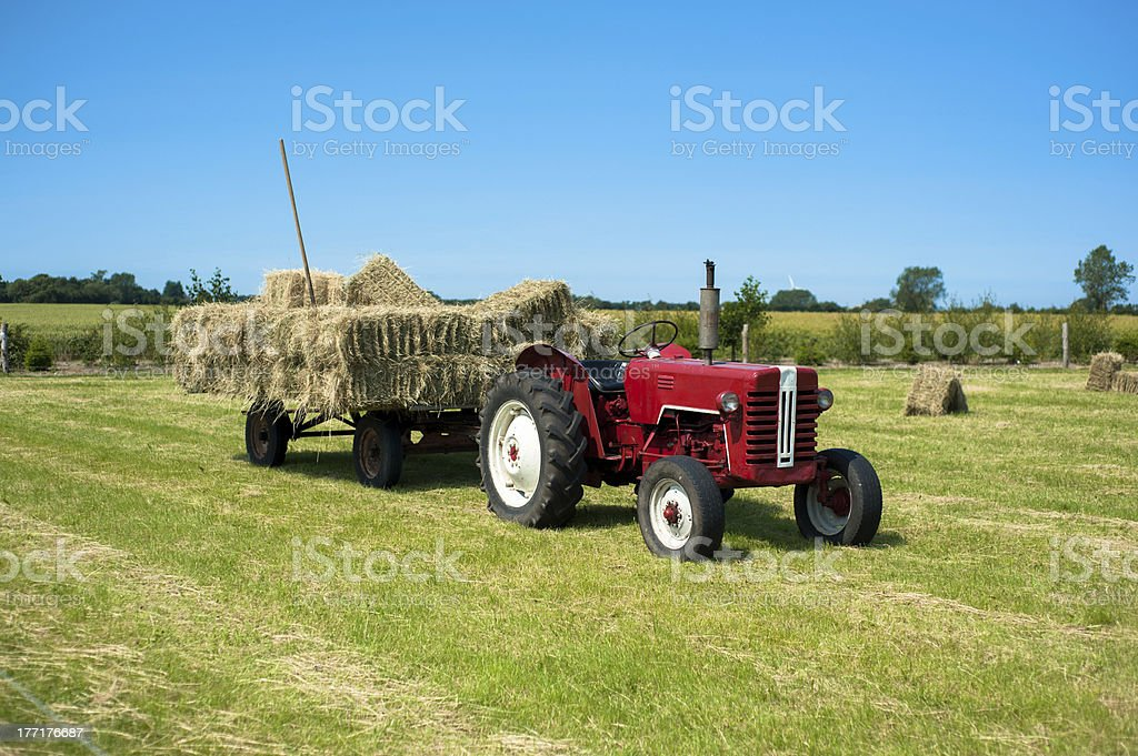 Cartload of straw royalty-free stock photo