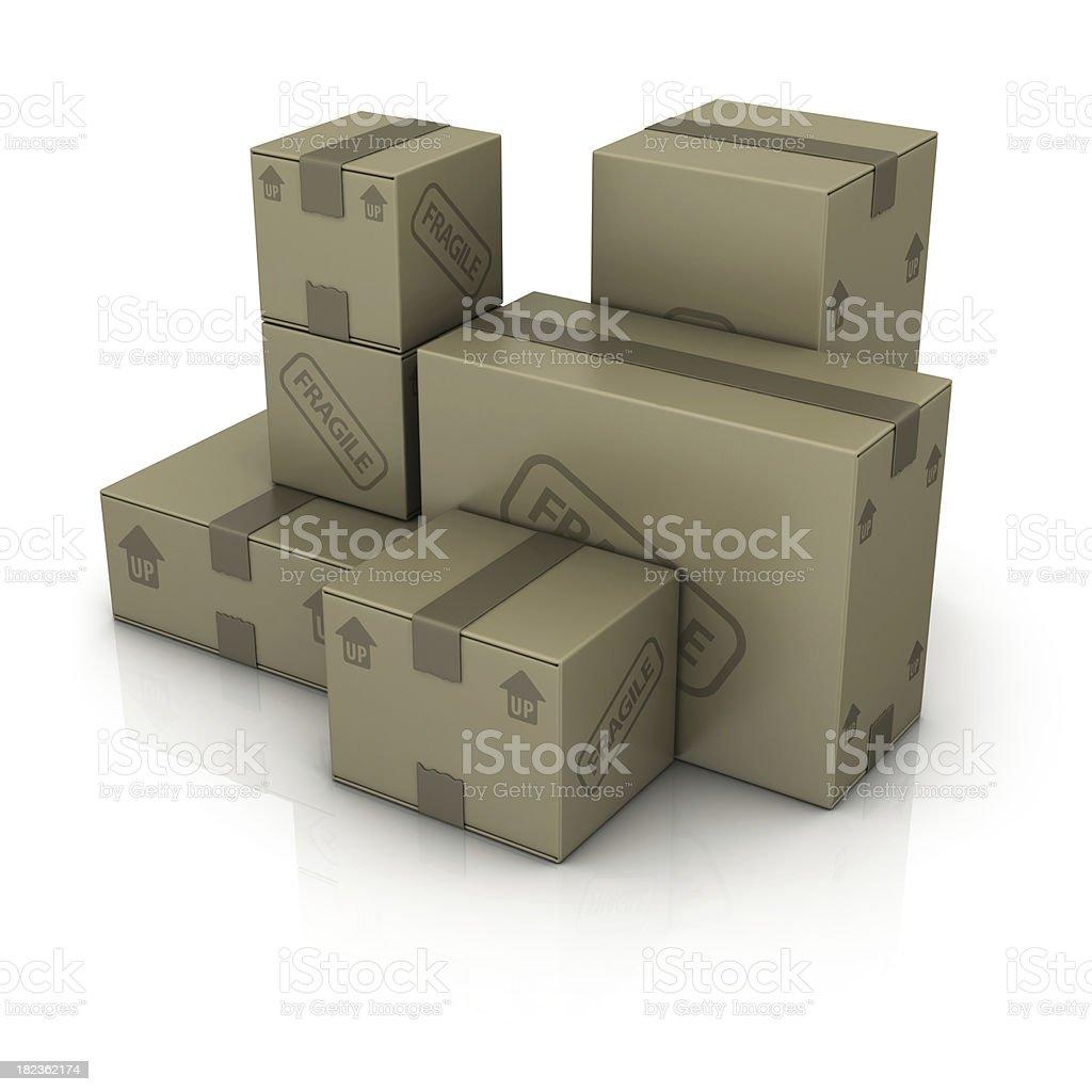 carton boxes royalty-free stock photo