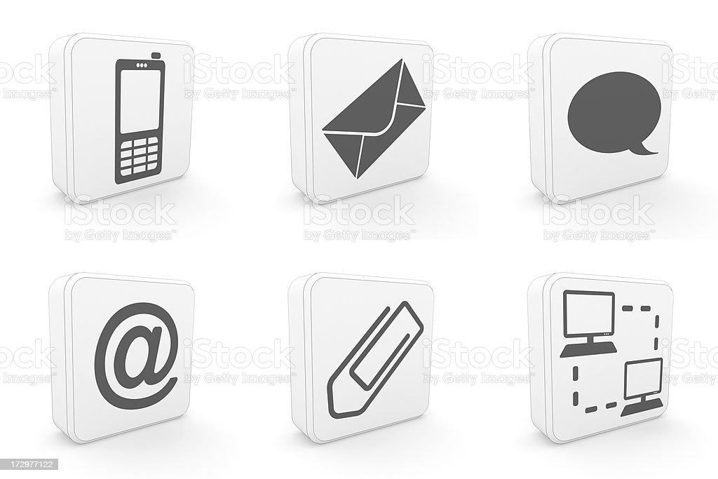 carton icons - communication royalty-free stock photo
