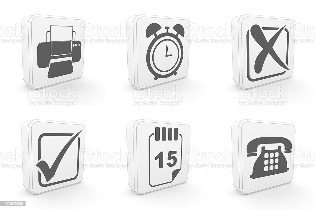 carton icons - office royalty-free stock photo