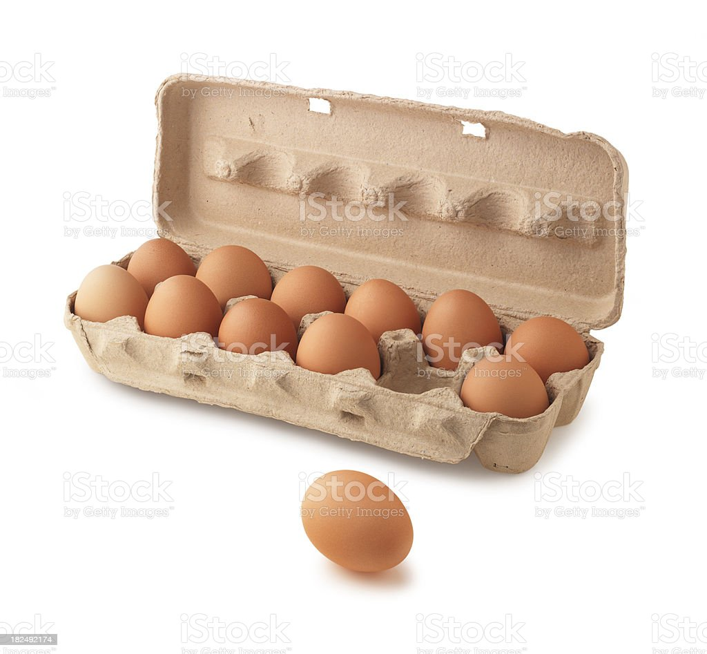 Carton of eggs royalty-free stock photo