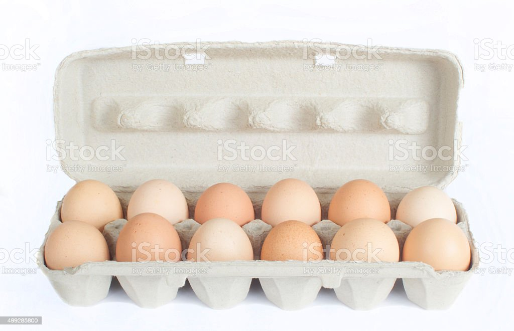 Carton of Eggs stock photo