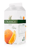 Carton of orange juice with clipping path