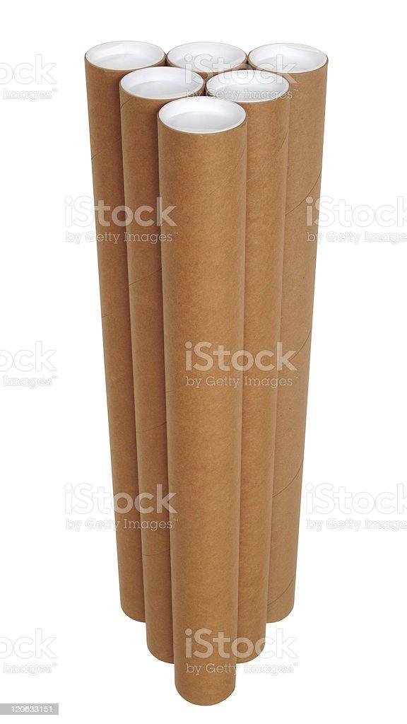 Carton tubes. royalty-free stock photo