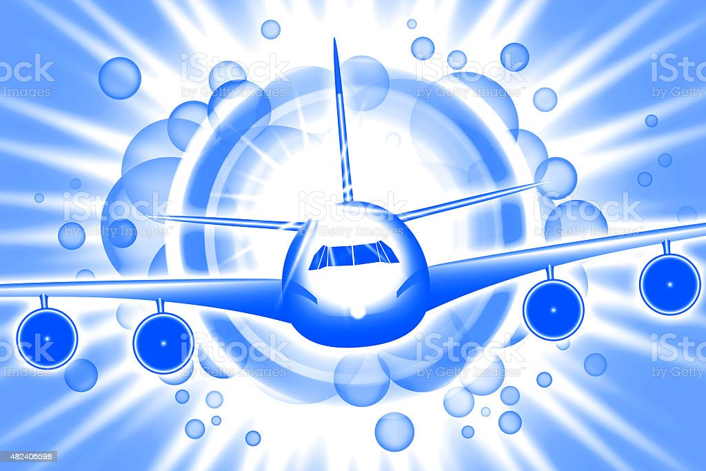 Cartoon Airplane stock photo