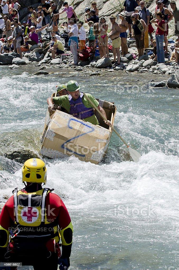 Cartoon Boat rafting royalty-free stock photo