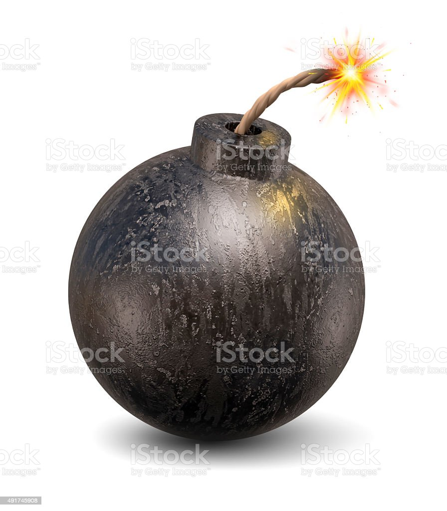 cartoon bomb 3d illustration stock photo