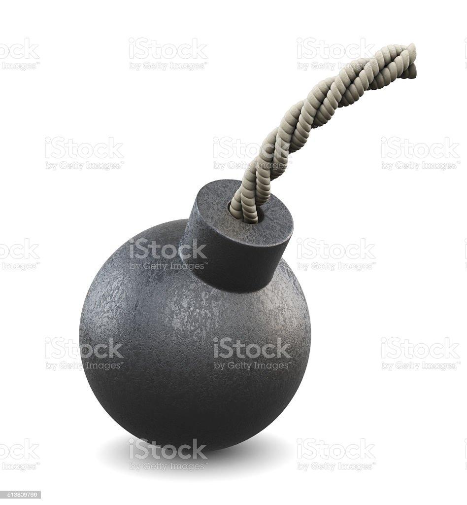Cartoon bomb. 3d. stock photo